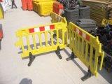 Barrière de clôture en plastique temporaire de chaussée, barrière de bloc de route