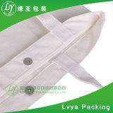 Sacchetto organico riutilizzabile amichevole personalizzato del cotone della tela di canapa 100% di Eco della maniglia promozionale con il tasto