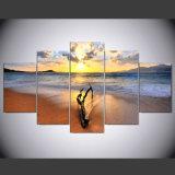 La tela di canapa stampa le pitture della foto delle maschere del mare di vista sul mare dell'illustrazione su arte della parete della tela di canapa per le decorazioni della casa della camera da letto del salone