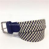 Fashion Blue White Knitting machine Hollow Braided Belt