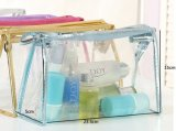 Duidelijke Toiletry van de Make-up van de Zak van pvc Kosmetische Zak