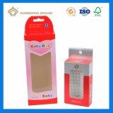 Custom печать Silver картонную коробку с пластиковые окна и подвесной кронштейн отверстие