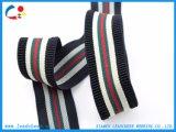 Sangle élastique faite sur commande colorée de polyester pour le support sportif