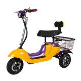中国の安くFoldable電気三輪車の大人、多彩な折りたたみ3の車輪の電気三輪車(TC-030)