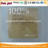 Zugelassene der 100% gesundheitliche Serviette organische Baumwollchina-gute Lieferanten-hohe saugfähige Baumwollweiche Dame-gesundheitliche Auflage-Dame-Female