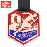 Cheap Custom médaillons de métal plaqué argent, la natation sport Medal of Honor