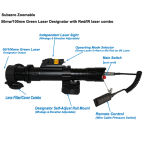 Designador de laser verde Subzero de Zoomable 100mw com a vista do laser de 5mw IR combinado