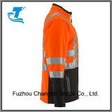 Men's Hivis veste soft shell avec des bandes réfléchissantes haute visibilité