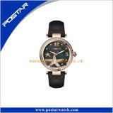 숙녀 손목 시계가 불가사리 패턴 Mop 쉘 다이얼 분홍색에 의하여 돌을 던진다