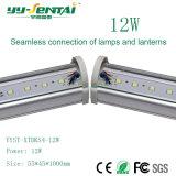 LED de luz linear de 12 W com conexão perfeita