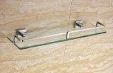 Muur Opgezette Afwerking 6303 van het Chroom van de Plank van het Glas van de Badkamers van het Messing