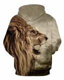 Картина Hoodies Hoodies льва полиэфира 3D Hoodies способа людей изготовленный на заказ