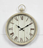 Antique Home Dcorative Mesas de metal oxidado reloj con Anillo Colgante