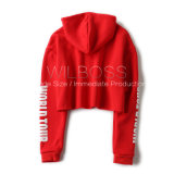 Amerikaner bestellt die roten starken Herbst-/Winter-Arten besonders und warmes Hohes-Waisted Hoodies Grau