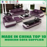 Jogo preto e branco clássico do sofá do couro genuíno