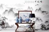 Nuevo diseño chino como murales, libre de formaldehído, con montañas y el agua,