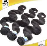 Extensão não processada do cabelo, onda brasileira do cabelo 10A humano