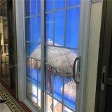 Porta deslizante de vidro interior de alumínio do projeto da grade