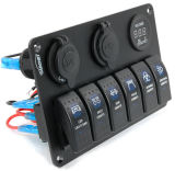 El interruptor de eje de balancín etiquetado Pn-RF4 del barco Carling Encender-Oye el bloqueo de Diff