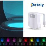 Un corpo di 8 colori che percepisce l'indicatore luminoso della toletta della lampada di notte del sensore di movimento del LED