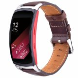 Ver la correa de cuero auténtico de sustitución de la banda de marcha para Samsung Monte 2/ Montar 2 PRO