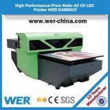 セリウムおよびSGSの公認A2サイズのデスクトップLED紫外線プリンターWer-D4880UV