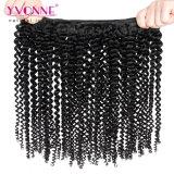 イボンヌの加工されていないブラジルの毛のねじれたカーリーヘアーの織り方