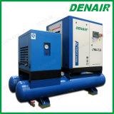 5-37 Kilowatt Wechselstrom-kleiner integrierter elektrischer Schrauben-Luftverdichter mit Becken und Trockner