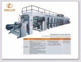 Imprensa de impressão de alta velocidade do Rotogravure com 2 Unwinders e 2 Rewinders (DLYJ-13850C/S)