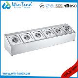 Doppia riga sei vaschetta profonda dell'acciaio inossidabile della GN Gastronorm di griglie con il supporto del coperchio per buffet