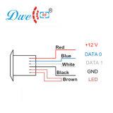 125kHz RFIDシステムのための極度の小型RFIDのドアのアクセス制御カード読取り装置