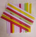 진주 거품 차를 위한 다채로운 플라스틱 마시는 밀짚