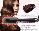 Горячая продавая электрическая выправляя нежность щетки волос керамическая