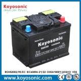 2 an de garantie 12V 60Ah batterie chargée à sec de batterie de voiture