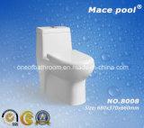 Toilette d'une seule pièce vidante superbe de courroie de Siphonic (8018)
