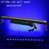 30W 14 barre extérieure de la lumière DEL de lavage de mur d'IP 65 imperméables à l'eau DEL