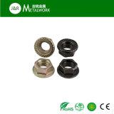 Noix Hex galvanisée galvanisée de bride de M10 M12 (DIN6923)