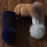 Fourrure de bonneterie POM POM Bobble Hat/Fourrure de raton laveur Pompom