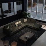 Muebles determinados de la sala de estar del sofá italiano de la tela