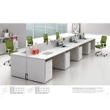 Sitio de trabajo de la oficina de 4 Pax con la partición del marco y la unidad de aluminio del cajón