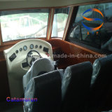 10.8m中国大きいFRPのカタマラン25の乗客の船外エンジン
