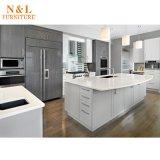 Moderna y sencilla de madera acabados MFC kitchen cabinet