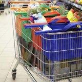 Kundenspezifisches Supermarkt-Lebensmittelgeschäft-faltbare mehrfachverwendbare Einkaufswagen-Laufkatze-Beutel