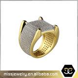 方法18K金によってめっきされる記念日の結婚指輪の宝石類のリング