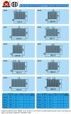 De Vin Heatsink van de Uitdrijving van het Profiel van het aluminium voor Omschakelaar