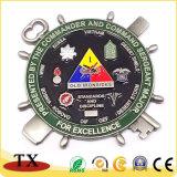 浮彫りにされたロゴの金属メダルおよび挑戦硬貨
