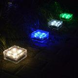 Cambio de color resistente al agua caliente de Venta de ladrillos de hielo Solar Solar jardín lámpara de piscina