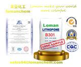 Het Wit van het pigment van het Sulfide van het Zink en het Lithopoon dat van het Sulfaat van het Barium wordt gemaakt