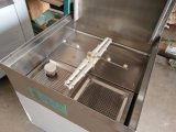 Máquina de lavar louça ultra de alta temperatura inoxidável comercial Cheering do aço para a máquina de lavar louça do transporte da limpeza