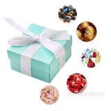 Pequeño rectángulo de regalo mate hecho a mano del azul de bebé del rectángulo de regalo con la tapa